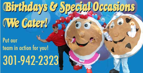 Birthday Clubs for kids and adults call 301-942-2323 for details