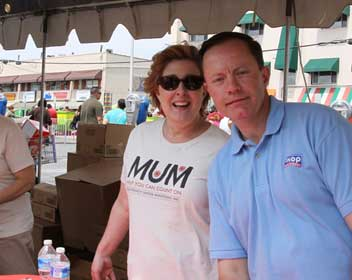 William Moore, Owner Operator and other MUM volunteer at the Taste of Wheaton.