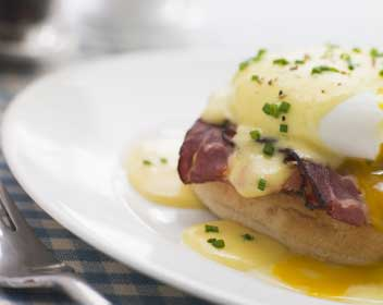 Eggs Benedict always a good start to the day.