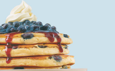 Double Blueberry pancakes
